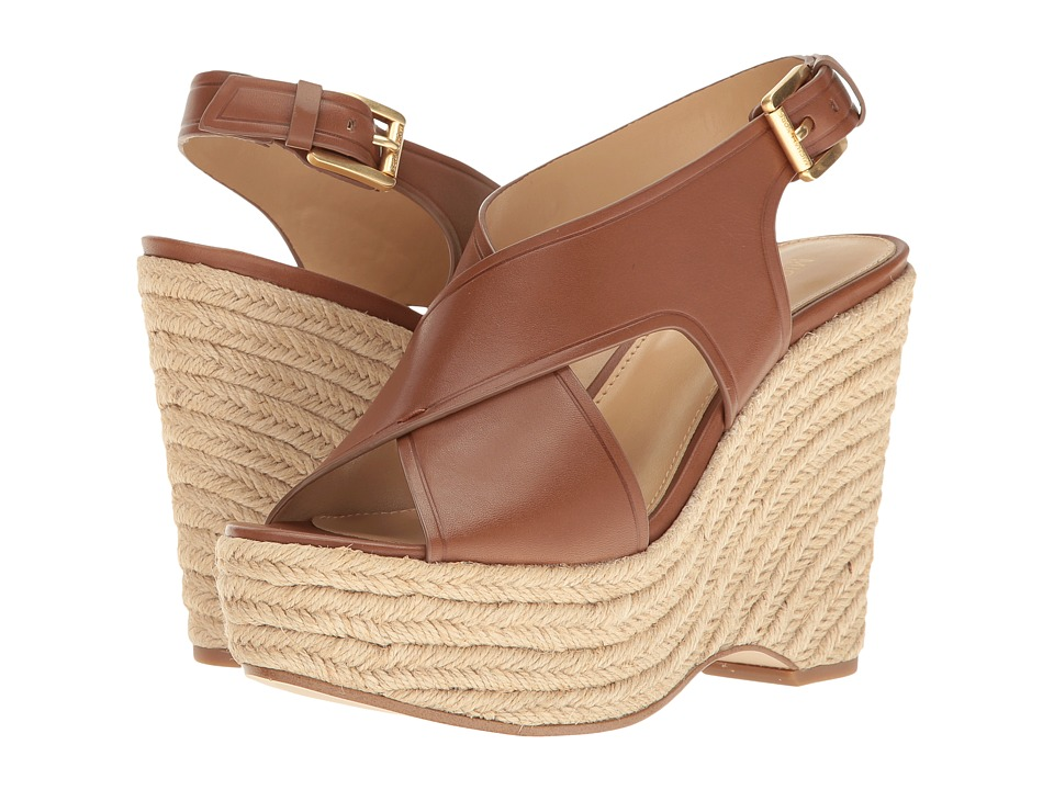 MICHAEL Michael Kors Angeline Wedge (Luggage Vachetta/Jute) Women