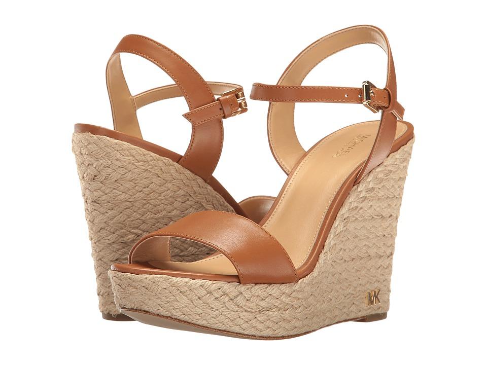 MICHAEL Michael Kors - Jill Wedge (Acorn Vachetta) Women's Shoes