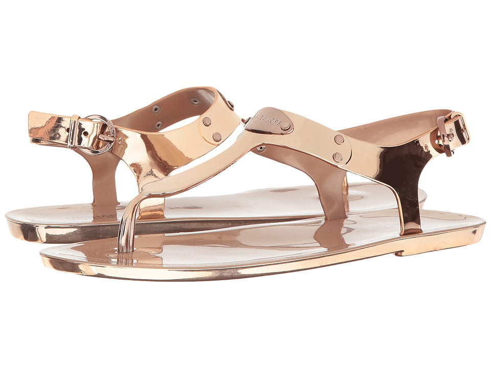 MICHAEL Michael Kors - MK Plate Jelly (Sable Metallic PVC) Women's Sandals