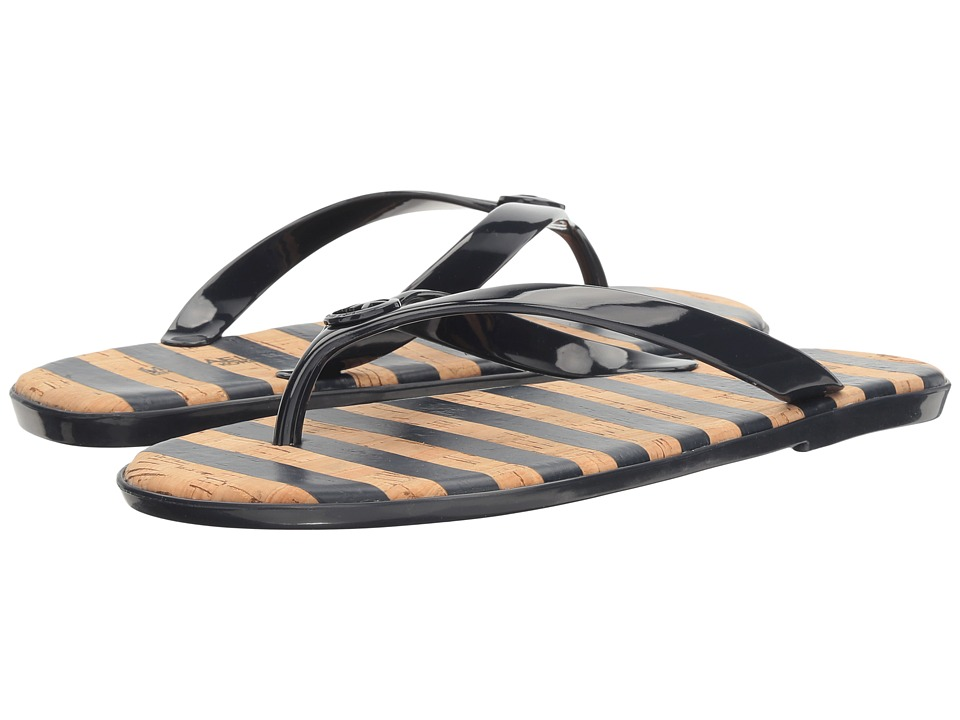 MICHAEL Michael Kors - Jet Set MK Jelly (Admiral PVC/Stripe Printed Cork) Women's Sandals