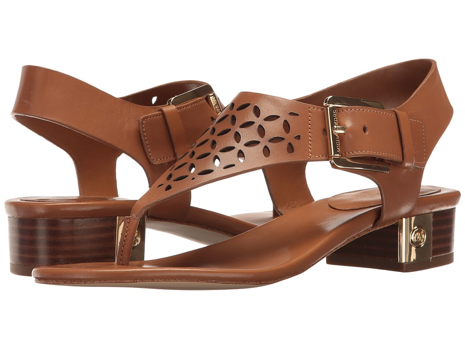 MICHAEL Michael Kors - London Thong (Acorn Vachetta Perf) Women's Sandals