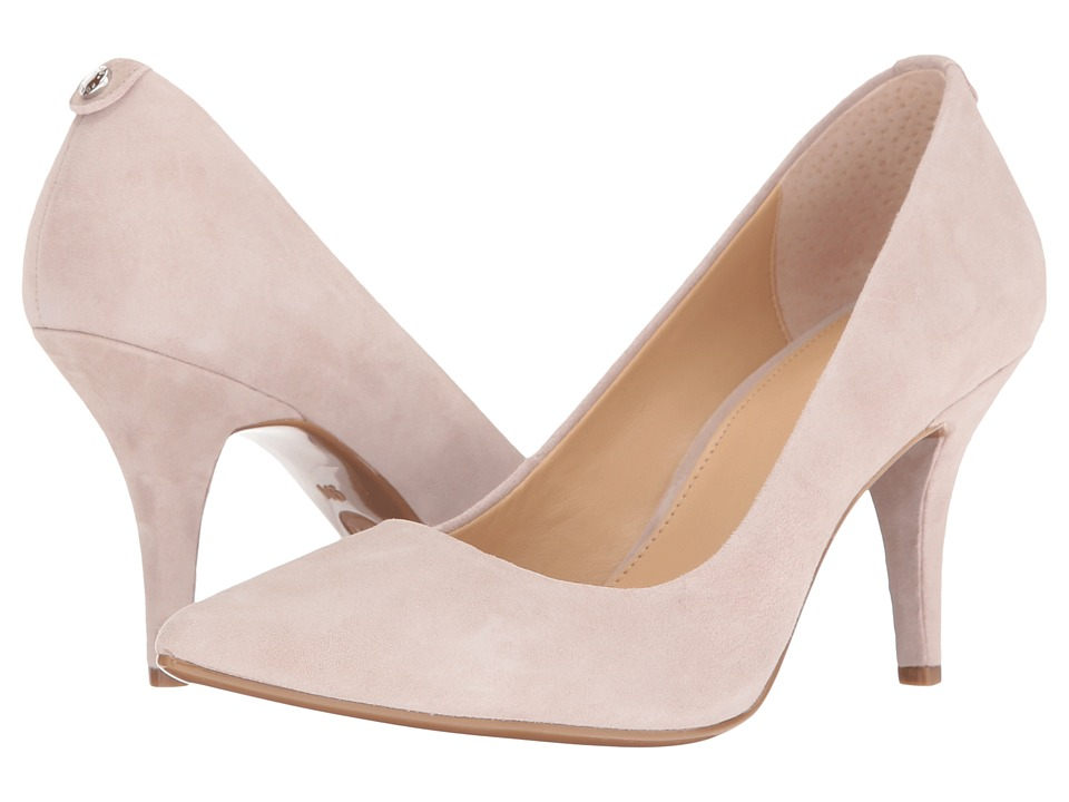 MICHAEL Michael Kors - MK Flex Mid Pump (Cement Kid Suede) High Heels