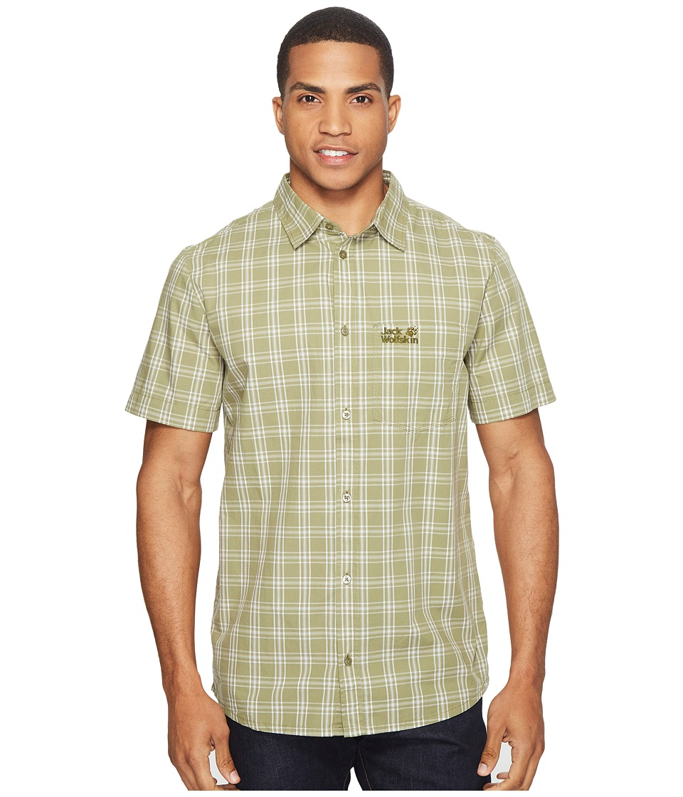 Jack Wolfskin - Hot Springs Shirt (Khaki Checks) Men's Clothing