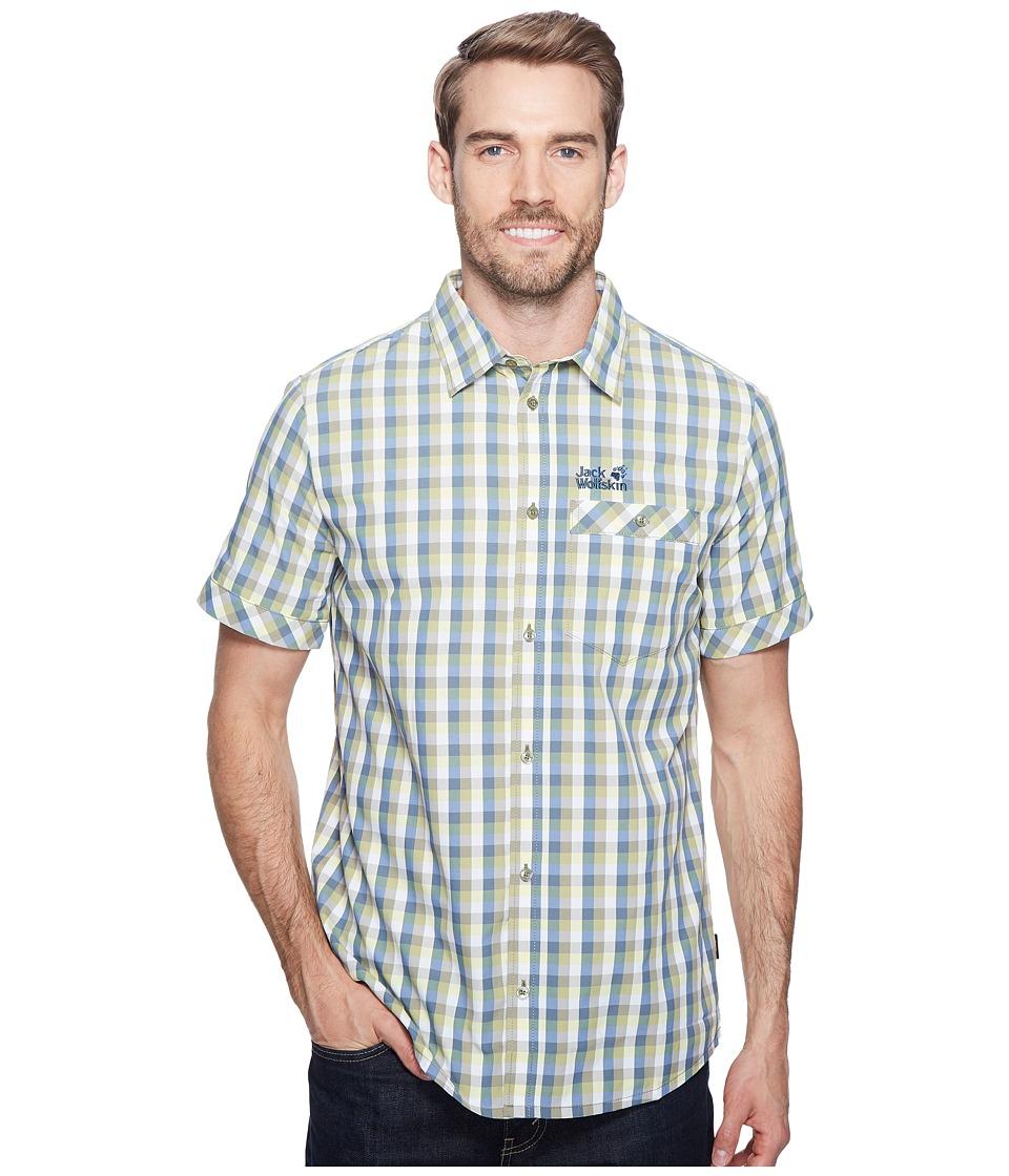Jack Wolfskin - Napo River Shirt (Khaki Checks) Men's Clothing