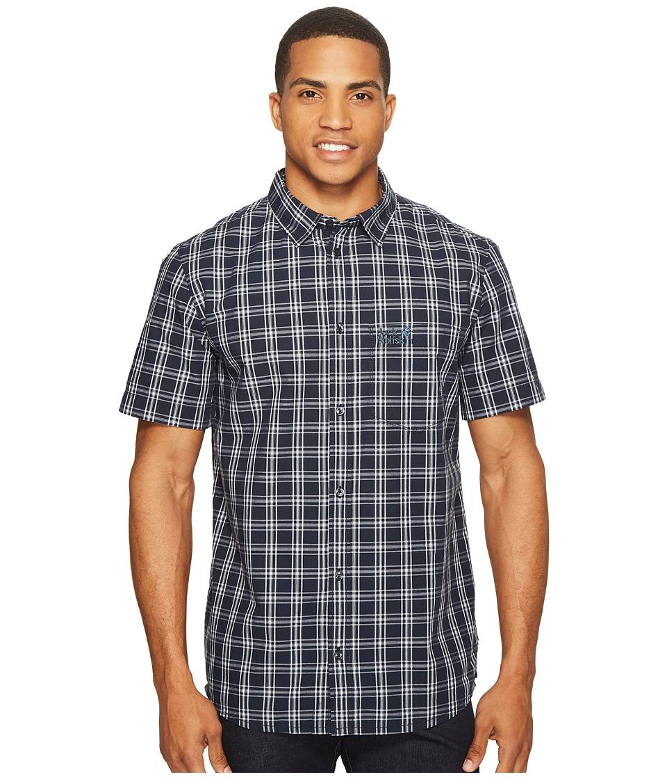 Jack Wolfskin - Hot Springs Shirt (Night Blue Checks) Men's Clothing