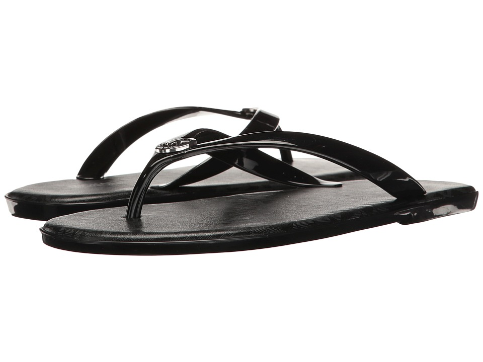 MICHAEL Michael Kors - Jet Set MK Jelly (Black PVC/Mini MK Logo PVC) Women's Sandals