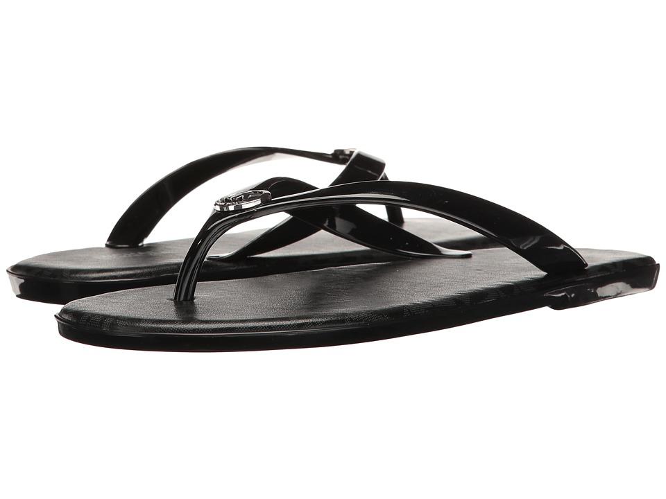 MICHAEL Michael Kors - Jet Set MK Jelly (Black PVC/Mini MK Logo PVC) Women's Sandals