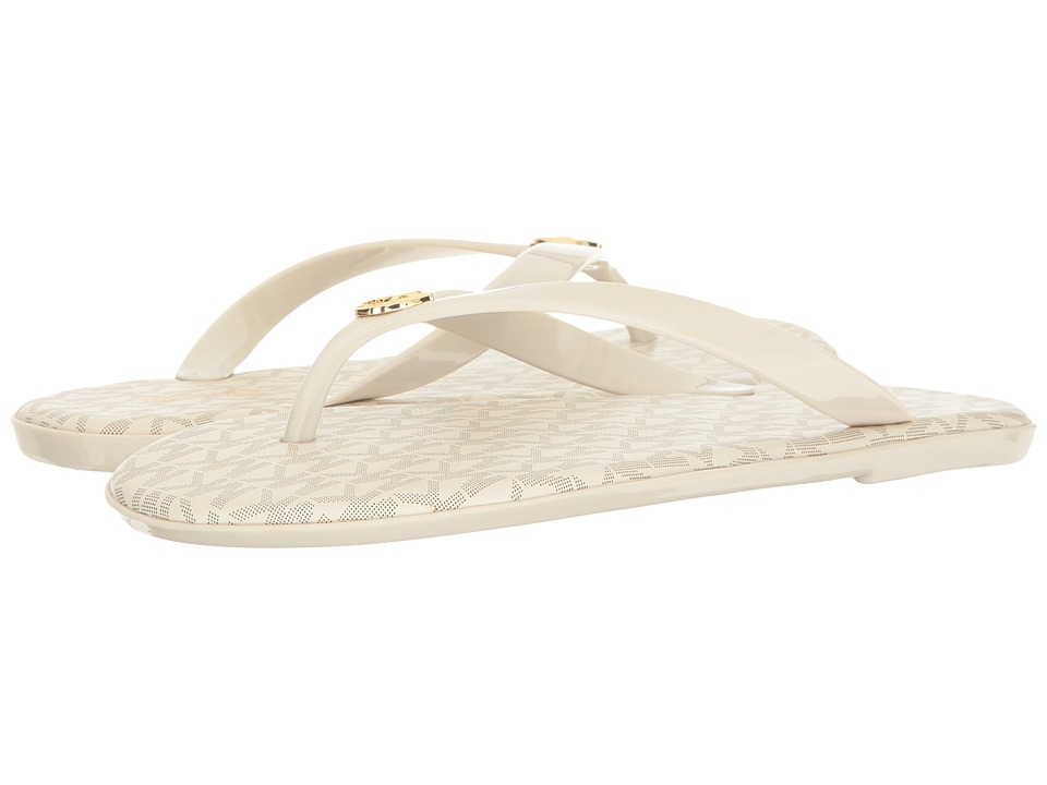 MICHAEL Michael Kors - Jet Set MK Jelly (Vanilla PVC/Mini MK Logo PVC) Women's Sandals