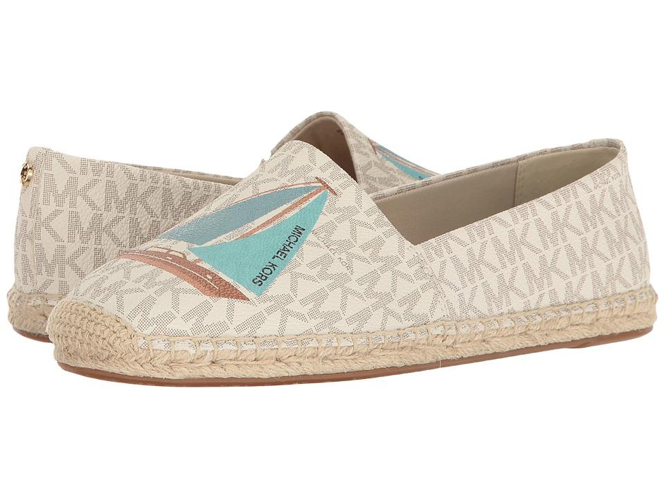 MICHAEL Michael Kors - Kendrick Slip-On (Vanilla Mini MK Logo PVC/Sail Boat) Women's Slip on Shoes
