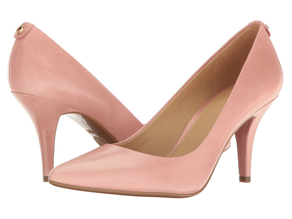 MICHAEL Michael Kors - MK Flex Mid Pump (Light Rose Vintage Leather) High Heels