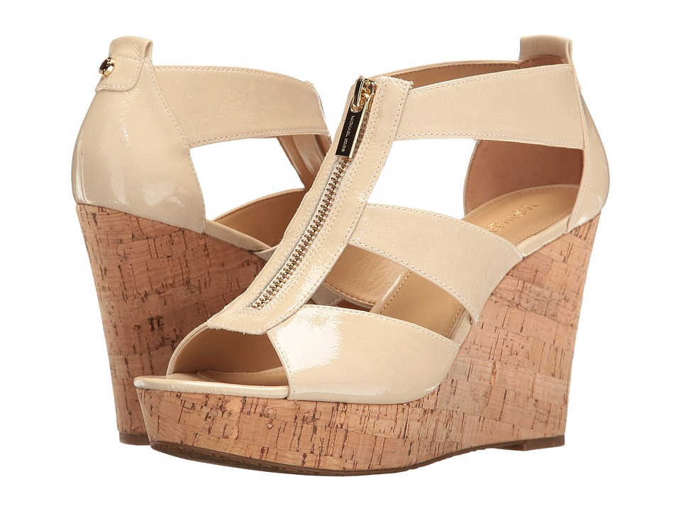 MICHAEL Michael Kors Damita Wedge (Ecru Soft Patent/Cork) Women