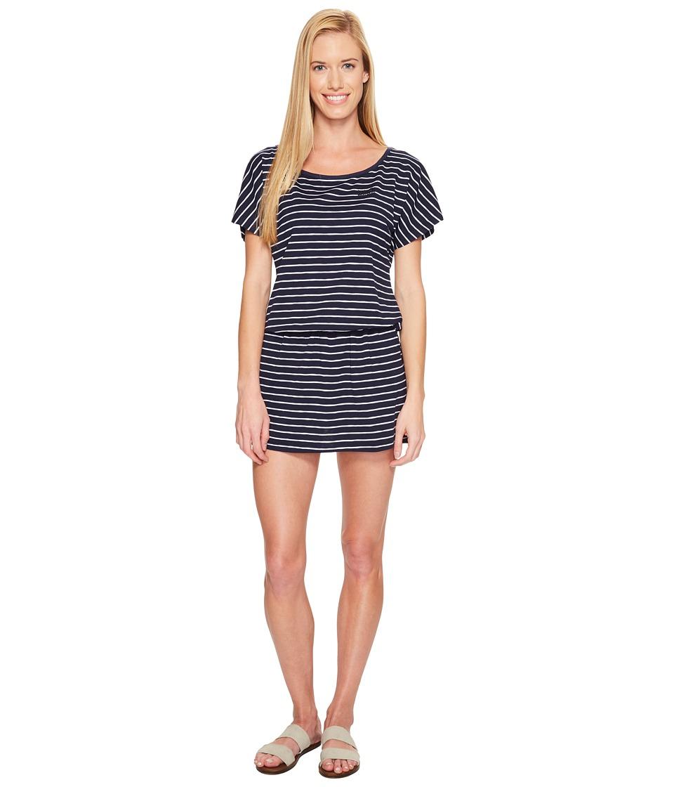 Jack Wolfskin Travel Striped Dress (Midnight Blue Stripes) Women