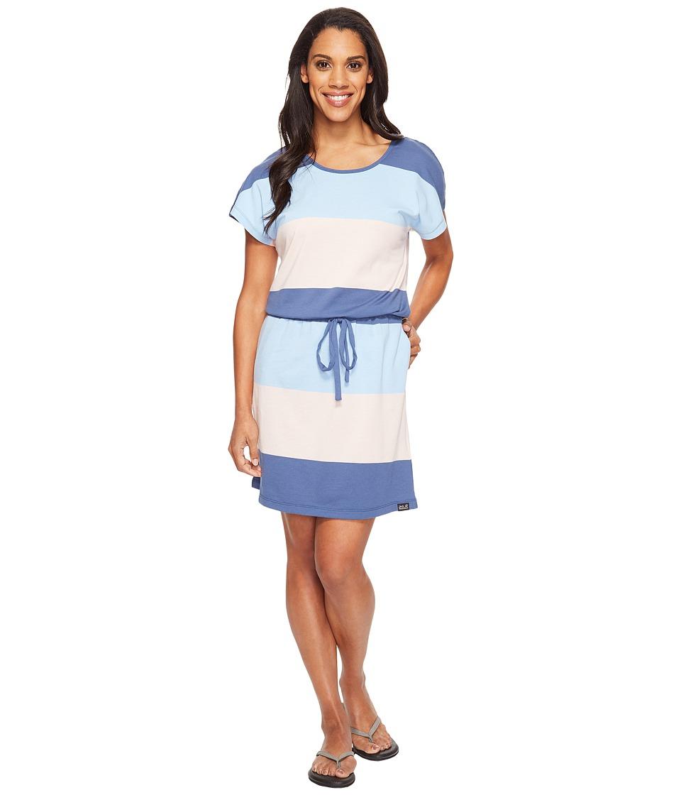 Jack Wolfskin Isla Del Sol Dress (Ocean Wave Stripes) Women