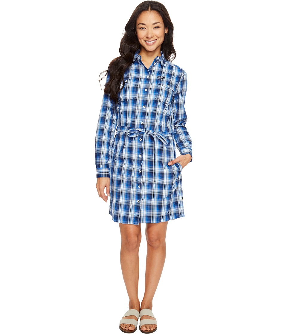 Jack Wolfskin - Rock Chill Dress (Midnight Blue Checks) Women's Dress