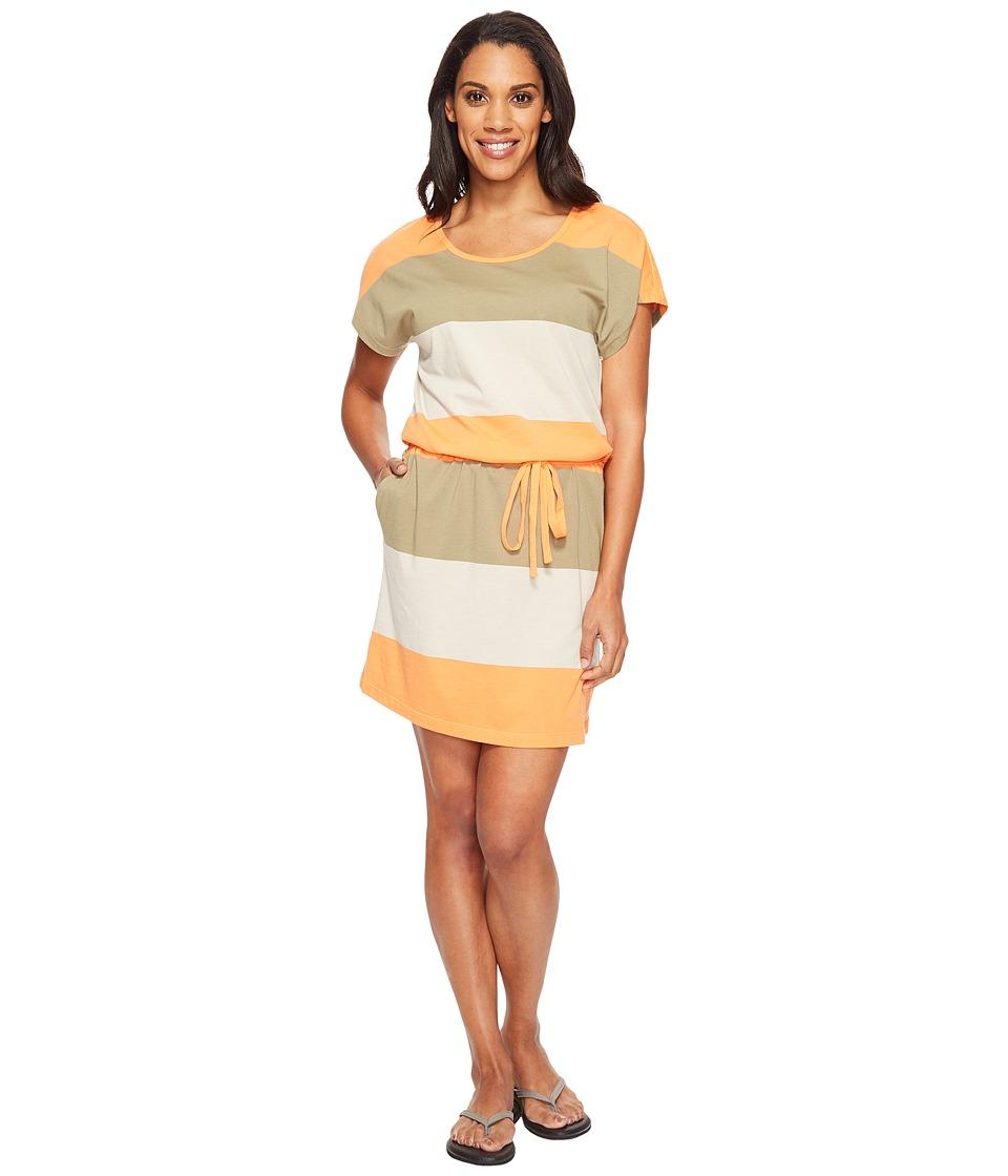 Jack Wolfskin Isla Del Sol Dress (Khaki Stripes) Women