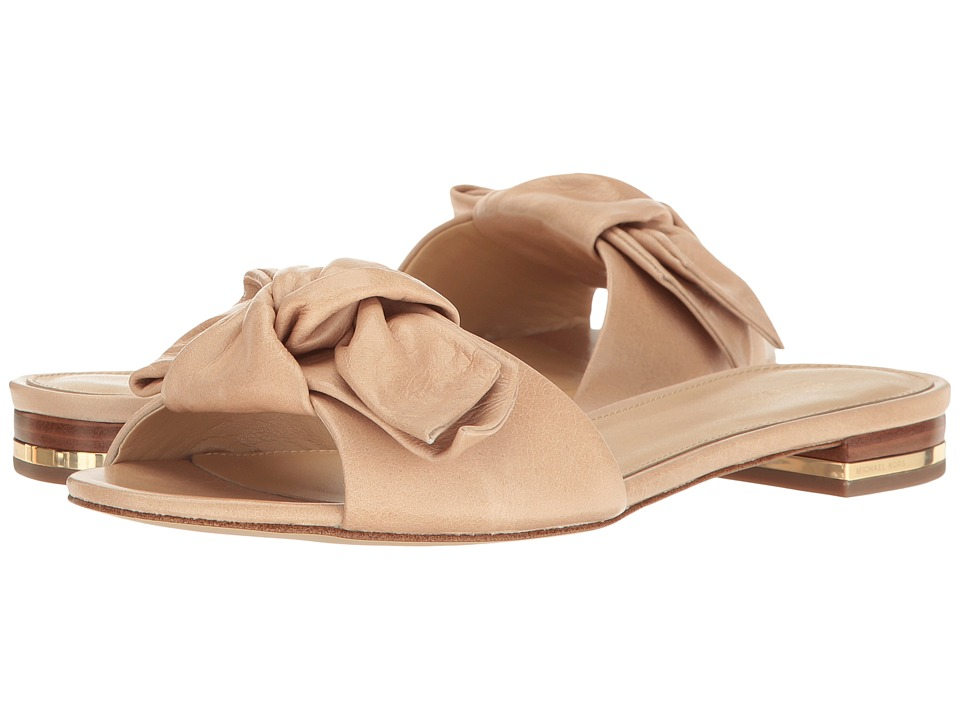MICHAEL Michael Kors - Willa Slide (Light Khaki Vintage Leather) Women's Shoes