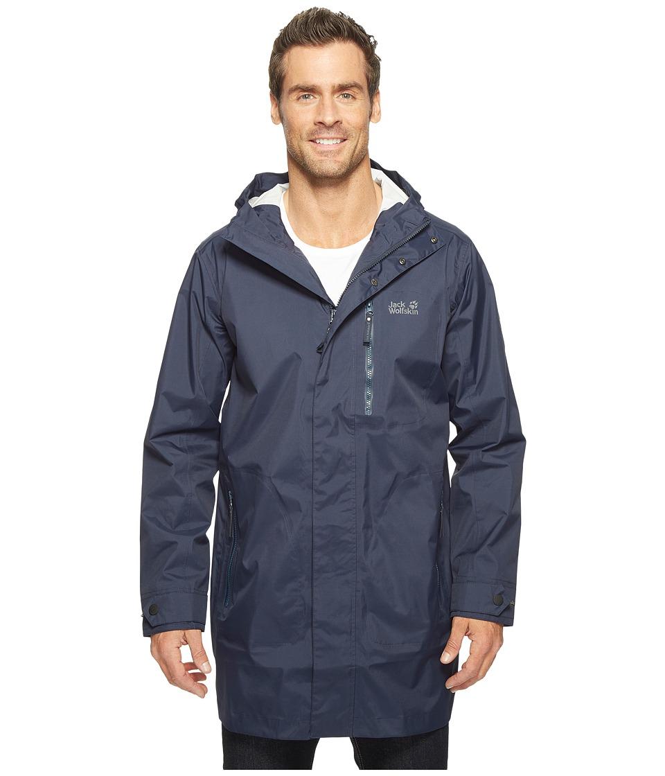 Jack Wolfskin Crosstown Raincoat (Night Blue) Men
