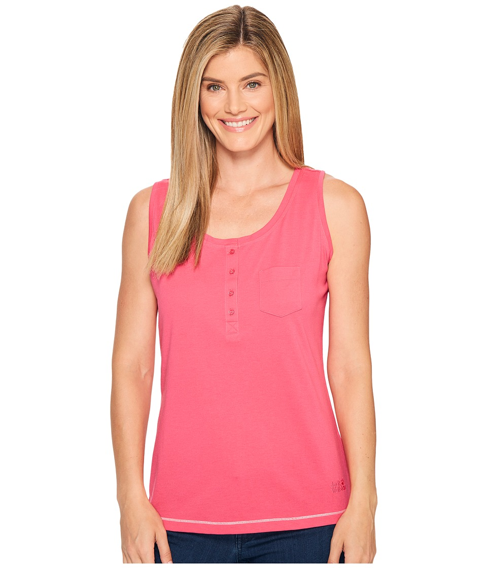 Jack Wolfskin - Essential Top (Tropic Pink) Women's Clothing