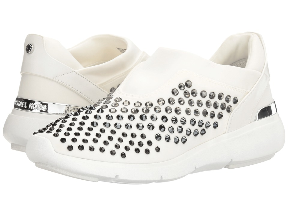 MICHAEL Michael Kors Ace Trainer (Optic White Scuba/Vachetta/Stones) Women