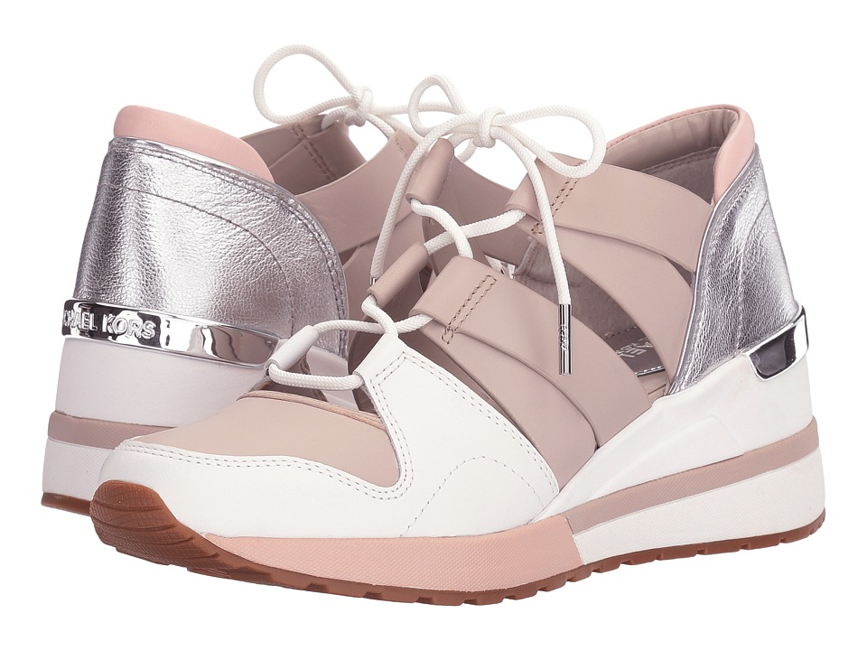 MICHAEL Michael Kors - Beckett Trainer (Cement/Soft Pink Vachetta/Metallic Nappa/Suprema Nappa Sport) Women's Shoes