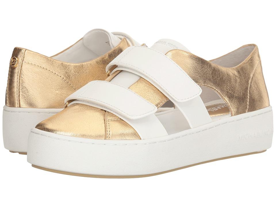 MICHAEL Michael Kors Beckett Sneaker (Pale Gold/White Metallic Nappa/Vachetta) Women