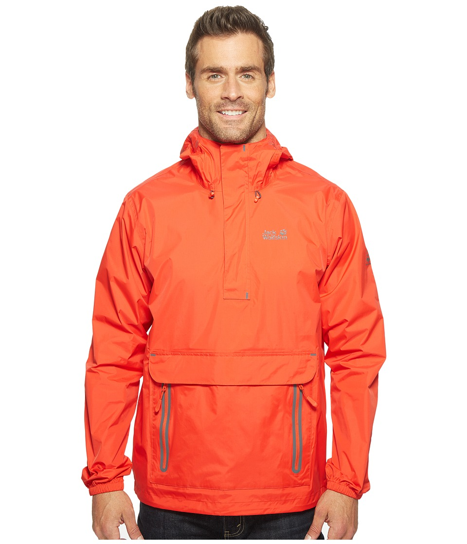 Jack Wolfskin Cloudburst Smock (Fiery Red) Men