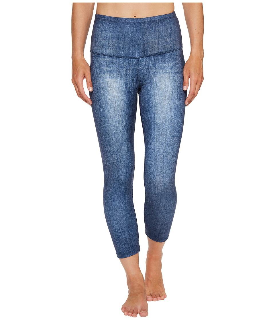 Lucy - Indigo High-Rise Yoga Capri Leggings (Dark Indigo) Women's Casual Pants