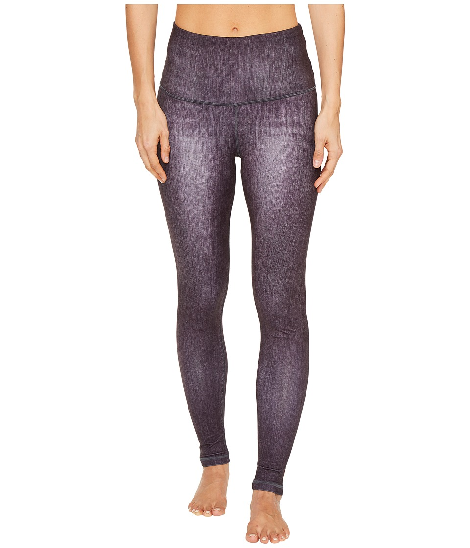 Lucy - Indigo High-Rise Yoga Leggings (Black Indigo) Women's Casual Pants