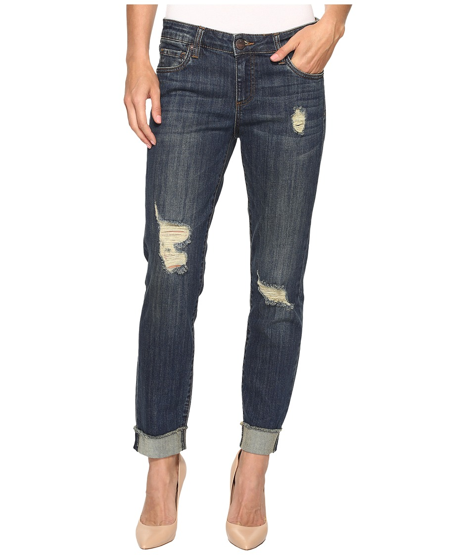 KUT from the Kloth - Amy Crop Straight Leg in Animation (Animation/Dark Stone Base Wash) Women's Jeans