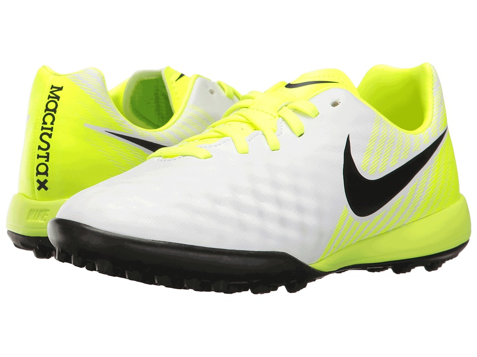 Nike Kids - Jr Magista Opus II TF Soccer (Toddler/Big Kid) (White/Black/Volt/Pure Platinum) Kids Shoes