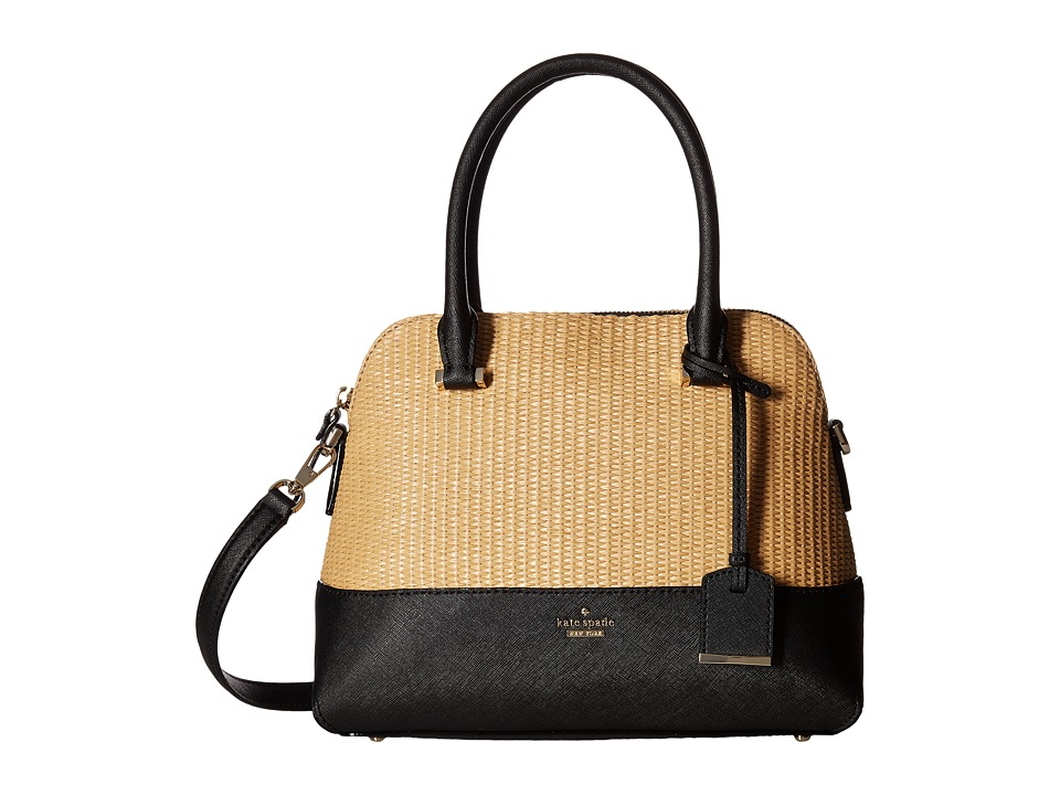 Kate Spade New York - Cameron Street Straw Maise (Black) Handbags