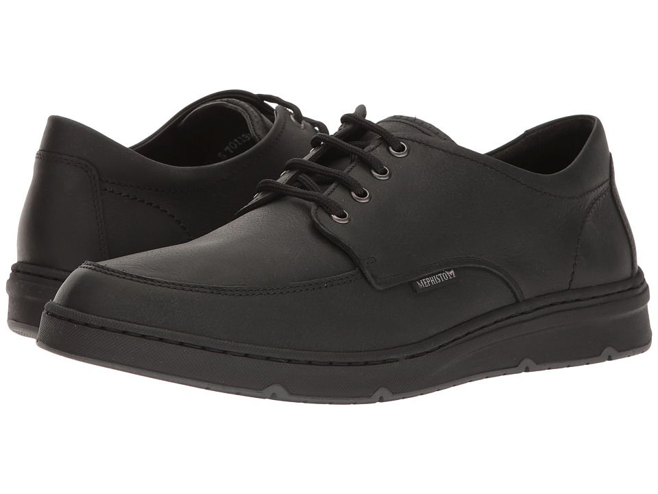 Mephisto - Justin (Black Kansas) Men's Lace up casual Shoes
