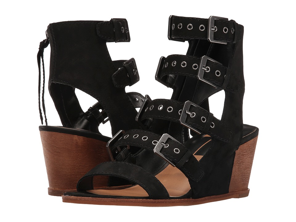 Dolce Vita - Laken (Black Nubuck) Women's Wedge Shoes