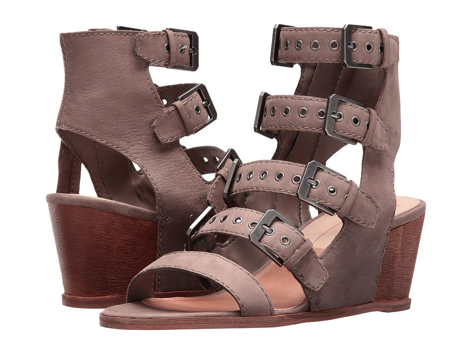 Dolce Vita - Laken (Grey Nubuck) Women's Wedge Shoes