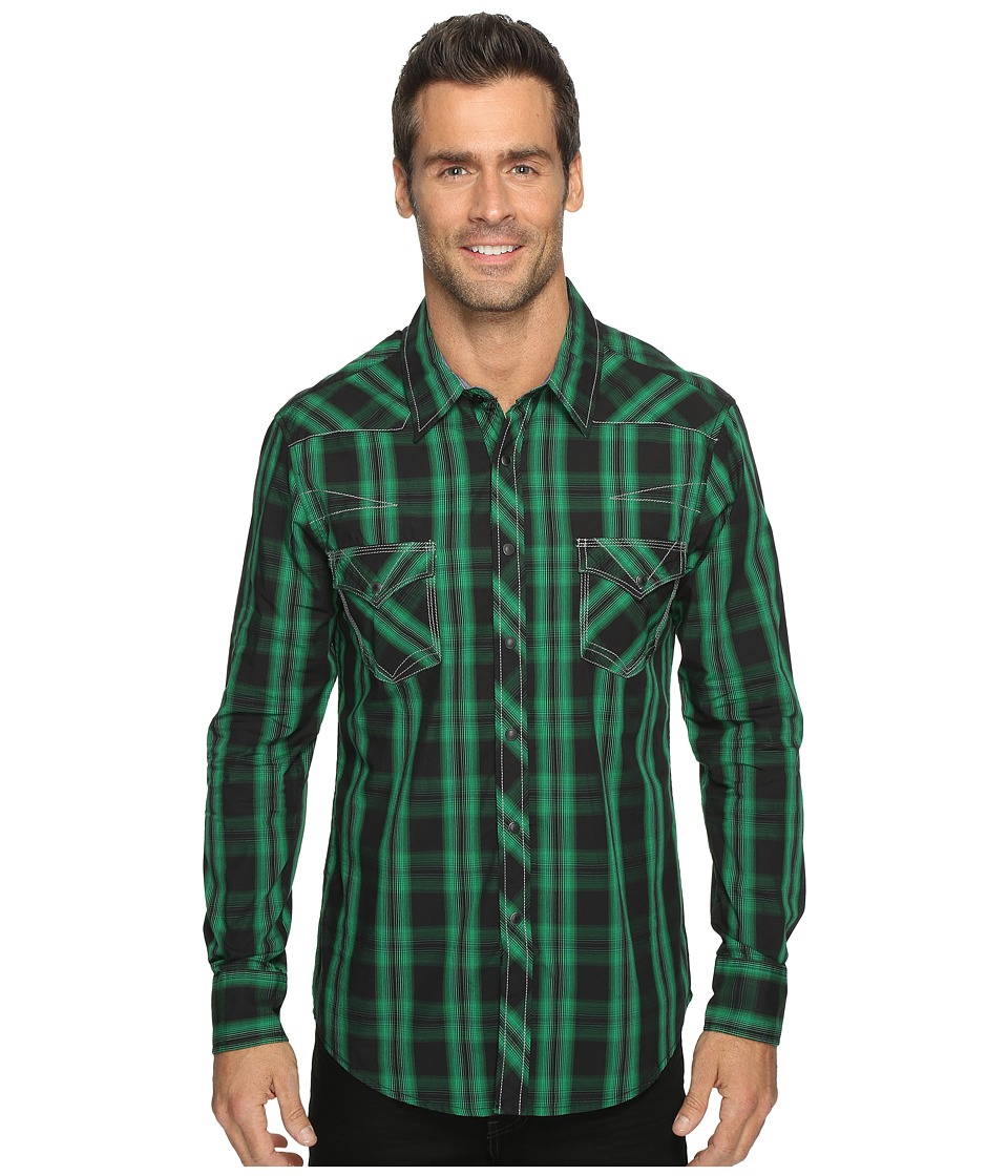Rock and Roll Cowboy - Long Sleeve Snap B2S9064 (Green) Men's Long Sleeve Button Up