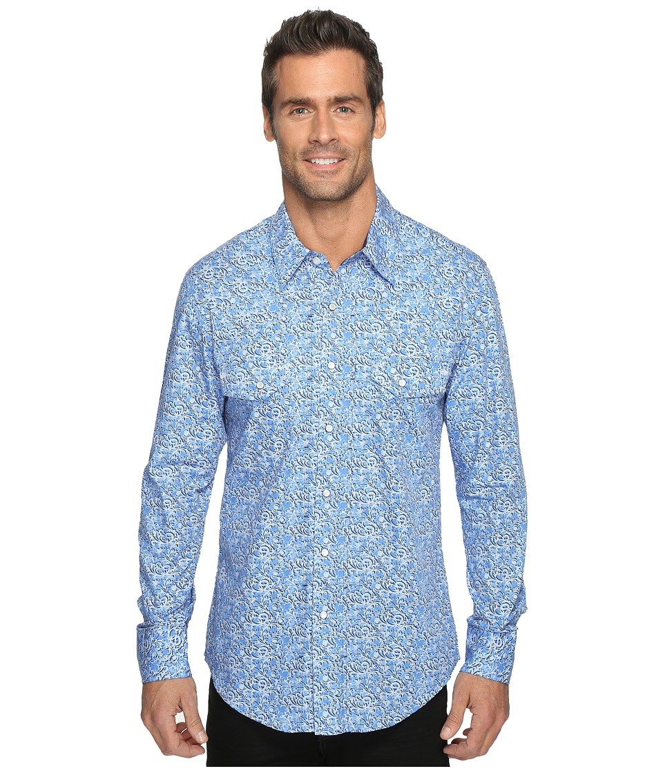 Rock and Roll Cowboy - Long Sleeve Snap B2S9074 (Blue) Men's Long Sleeve Button Up
