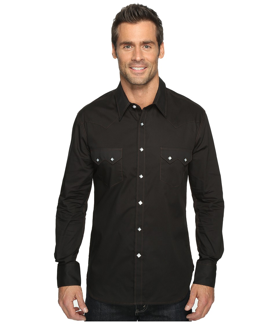 Rock and Roll Cowboy - Long Sleeve Snap B2S9063 (Black) Men's Long Sleeve Button Up