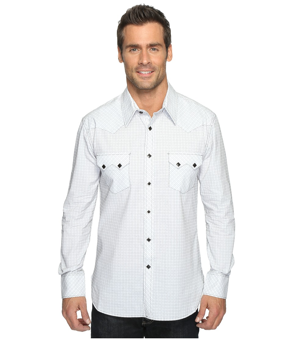 Rock and Roll Cowboy - Long Sleeve Snap B2S9061 (White) Men's Long Sleeve Button Up