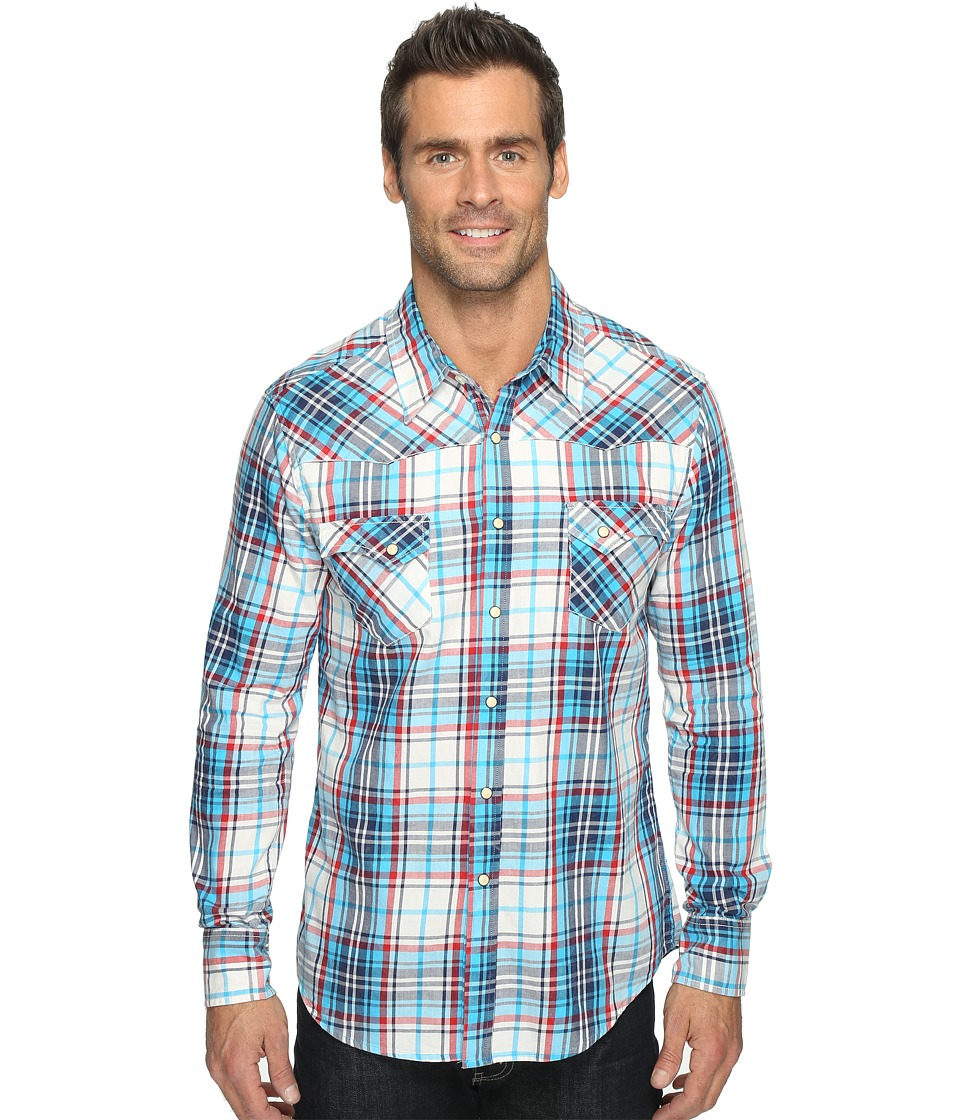 Rock and Roll Cowboy - Long Sleeve Snap B2S9058 (Turquoise) Men's Long Sleeve Button Up