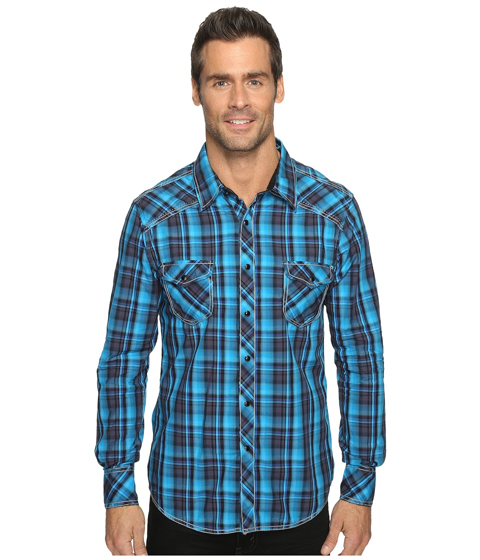 Rock and Roll Cowboy - Long Sleeve Snap B2S9057 (Turquoise) Men's Long Sleeve Button Up