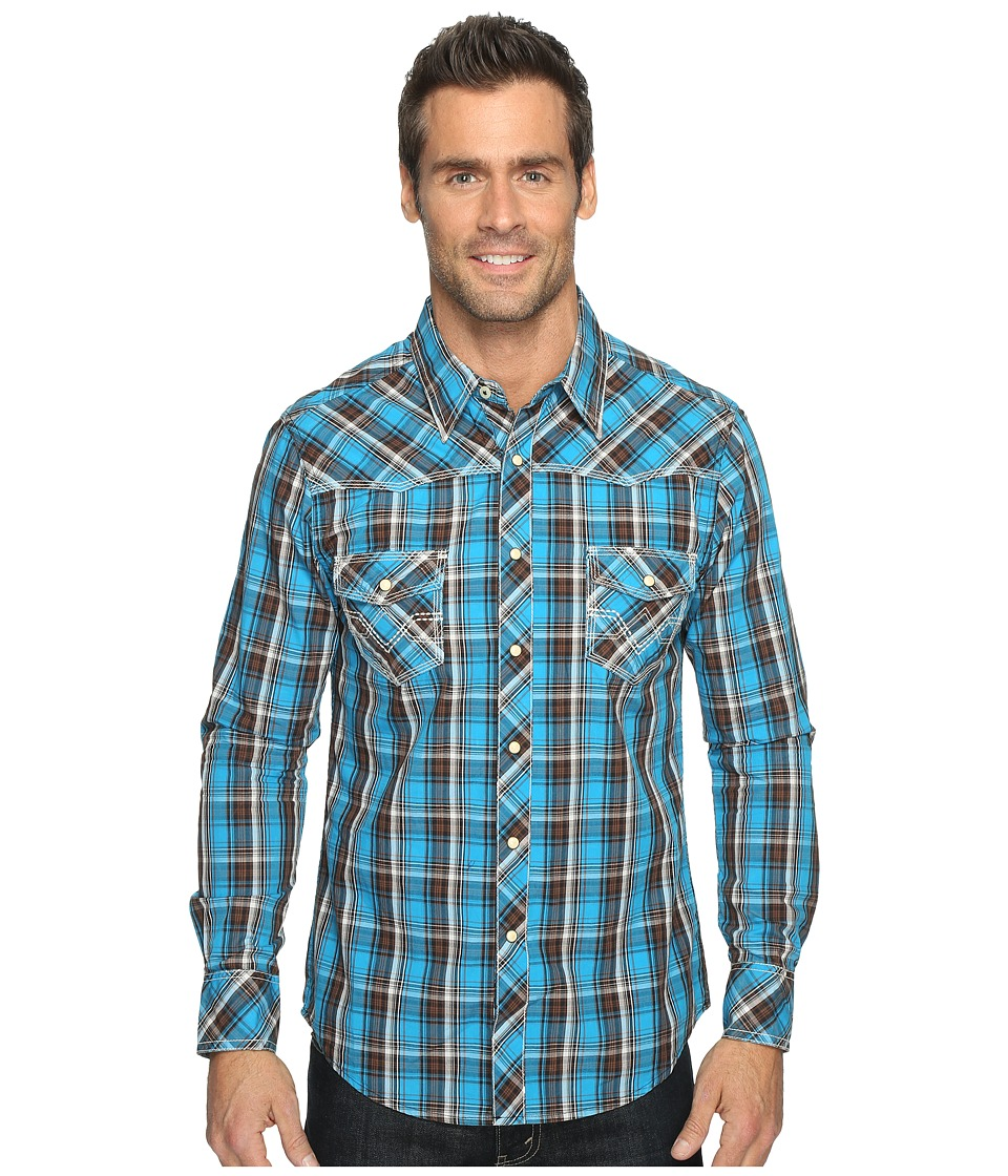 Rock and Roll Cowboy - Long Sleeve Snap B2S9056 (Turquoise) Men's Long Sleeve Button Up