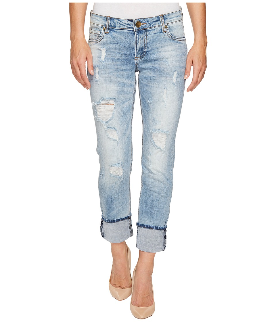 KUT from the Kloth - Catherine Wide Cuff in Hail (Hail/Medium Light Base Wash) Women's Jeans