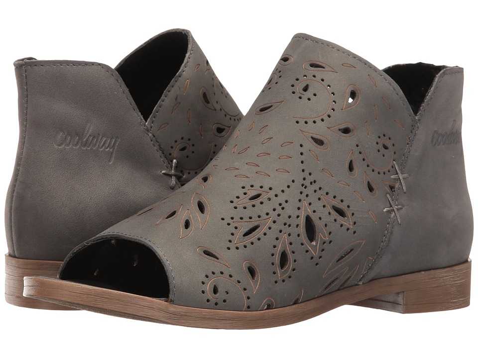 Coolway - Nelia (Grey Leather) Women's Toe Open Shoes