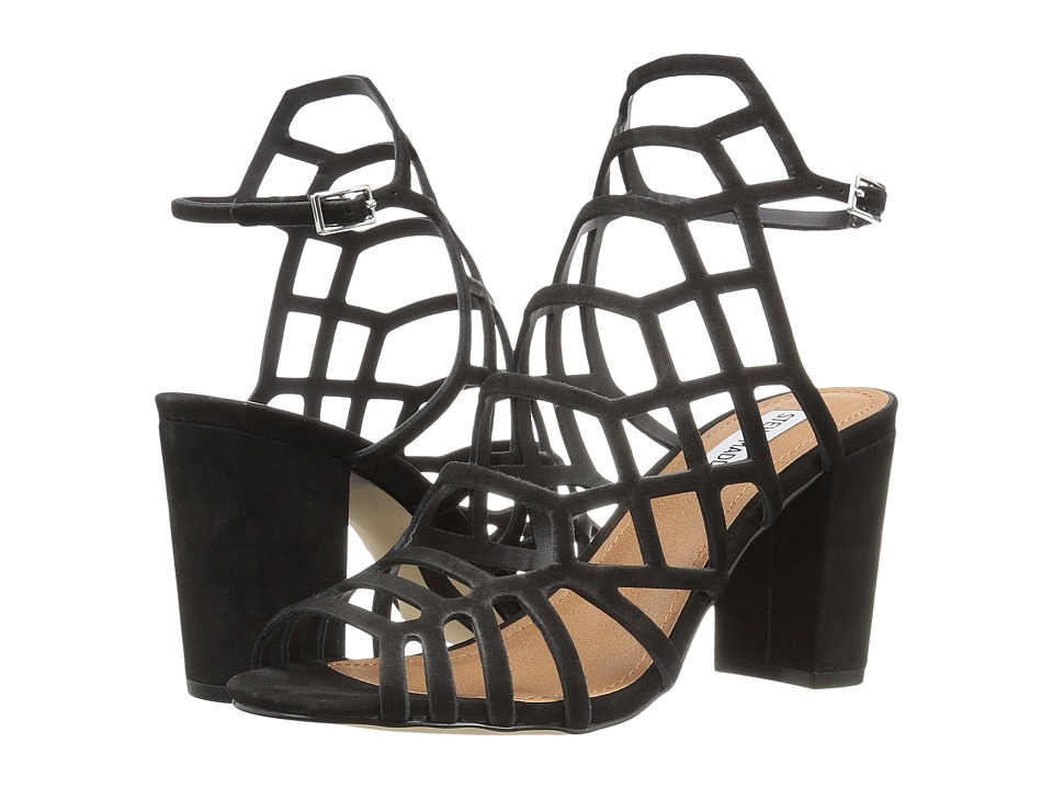 Steve Madden Dafine (Black Nubuck) High Heels