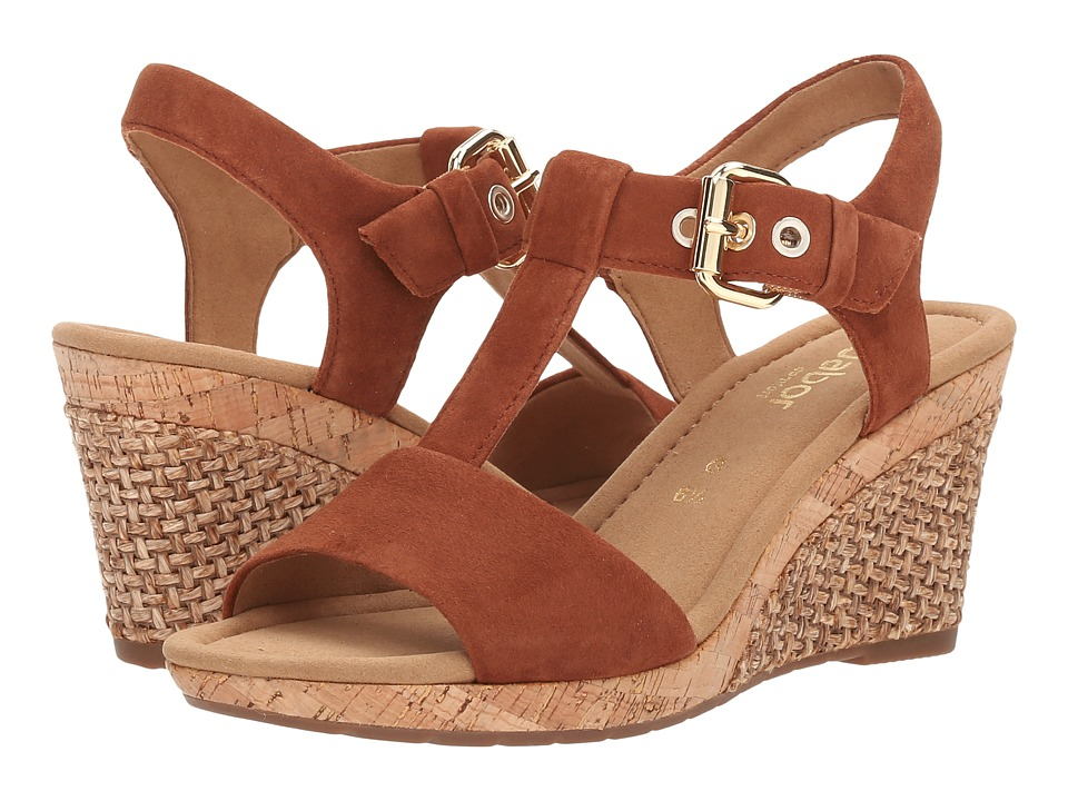 Gabor - Gabor 6.2824 (Whisky) Women's Wedge Shoes