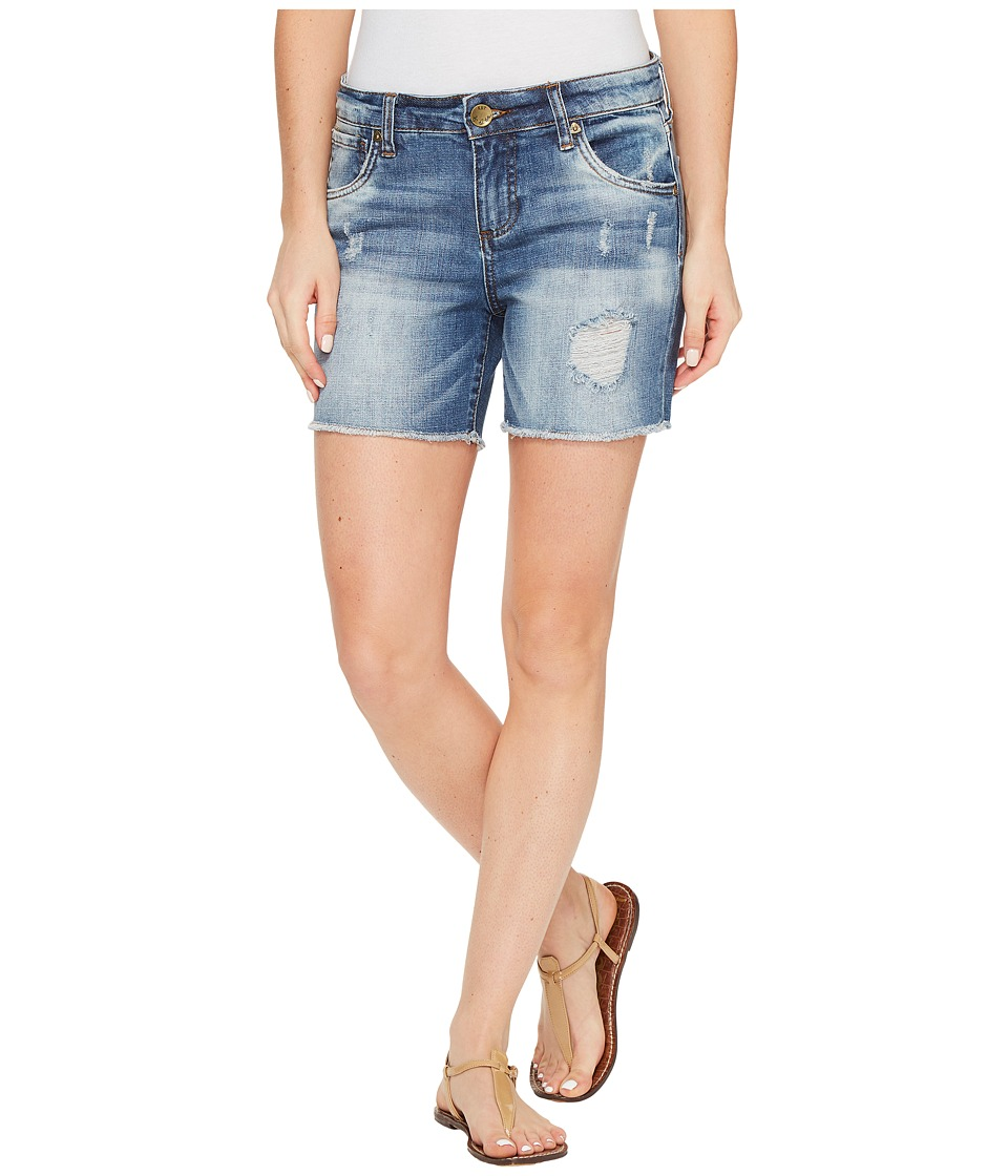 KUT from the Kloth - Gidget Frayed Shorts in Constructive (Constructive/Medium Base Wash) Women's Shorts