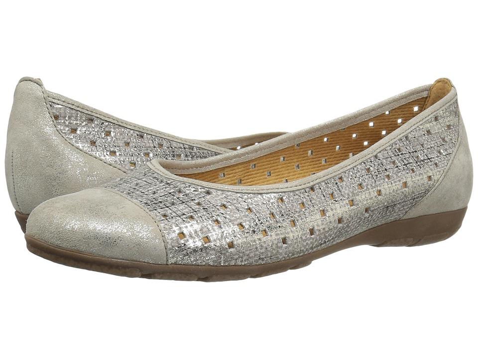 Gabor - Gabor 6.4169 (Silver/Mink) Women's Slip on Shoes