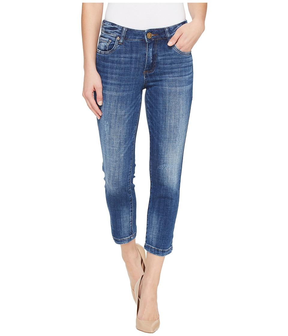 KUT from the Kloth - Lauren Crop Straight Leg in Entrusted (Entrusted/Medium Base Wash) Women's Jeans