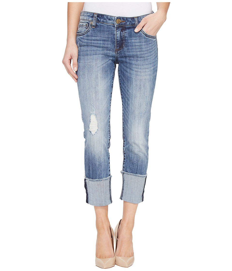 KUT from the Kloth - Cameron Wide Fray Cuff Straight Leg in Gain (Gain) Women's Jeans