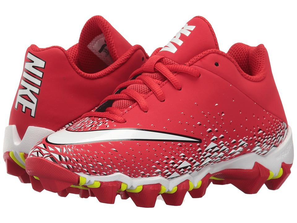 Nike Kids Vapor Shark 2 Football (Toddler/Little Kid/Big Kid) (University Red/White/Black/White) Boys Shoes